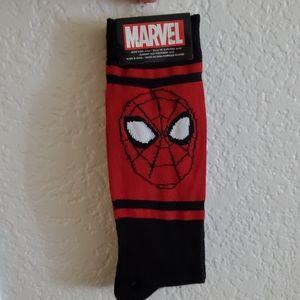 SpiderMan Marvel 2 Pack Socks Sz Large